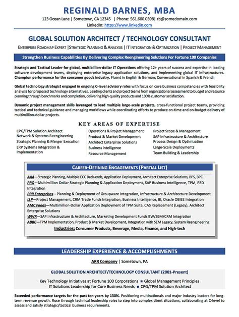 Healthcare Technology Consultant Resume by Resume Exles Cv Sle Resume Templates Rso Resumes