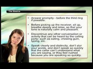 Skills For Good Customer Service Phone Skills Trainer Lesson Essential Telephone Etiquette