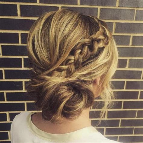 Braided Side Bun Hairstyles by Side Updos That Are In Trend 40 Best Bun Hairstyles For 2019