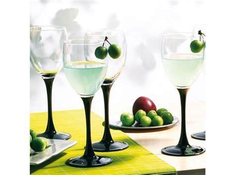 Bicchieri Luminarc by Set Di 6 Bicchieri Domino Noir 19 Cl Luminarc Bicchieri