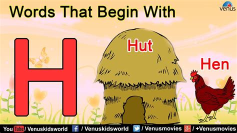 Words That Begin With 'h'