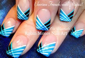 Striped nails design how to paint with a striping brush nail art
