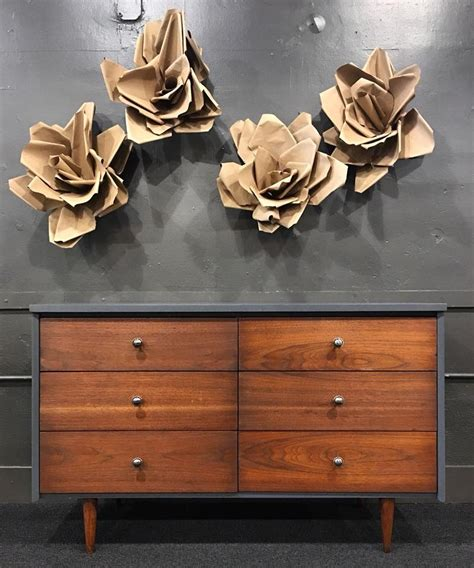 vögel arm mid century dresser in queenstown gray java general finishes design center