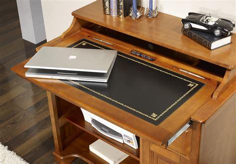 petit bureau informatique elise en merisier de style louis philippe surface d 233 criture noir