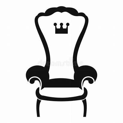 Throne King Chair Simple Icon Trono Sedia