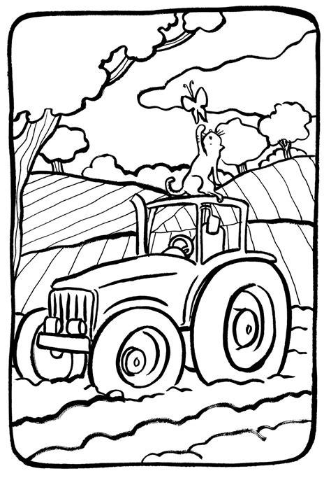 tracteur  transport coloriages  imprimer