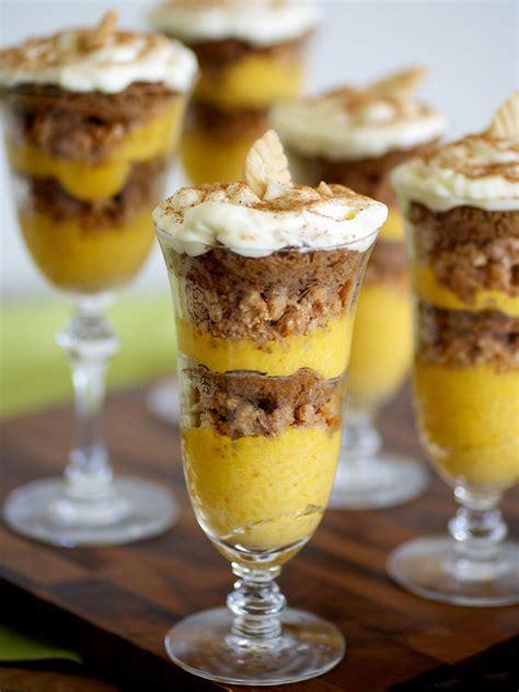 hgtvs recipe   thanksgiving pumpkin mousse parfait