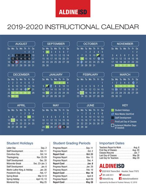 aldine aldine isd board approves school calendar