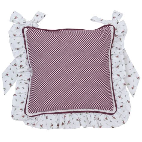 liberty maroon cover chair cushion with frill 50x50 cm by clayre eef
