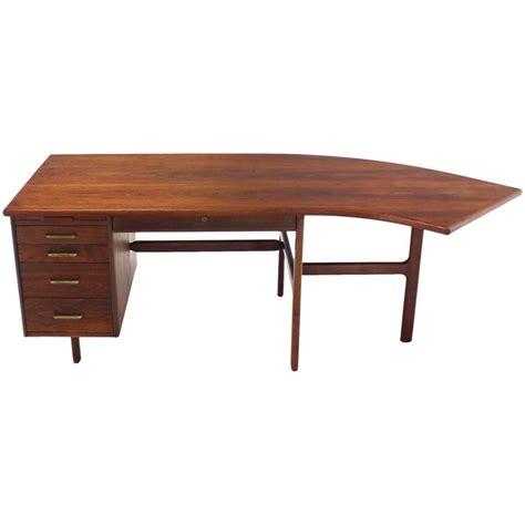 danish mid century modern desk danish mid century modern boomerang shape desk for sale at