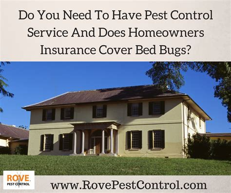 do you need to regular pest service and does homeowners insurance cover bed bugs