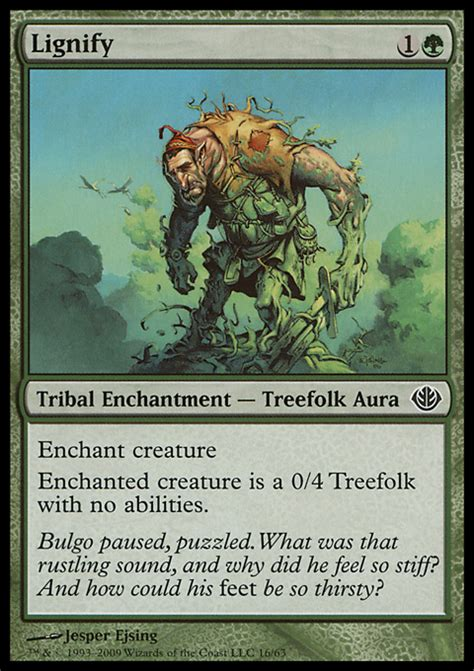 Mtg Treefolk Deck Modern by Lignify Enchantment Cards Mtg Salvation