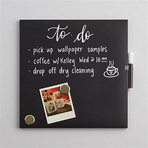 u brands black square chalk board the container store With home brand letter board