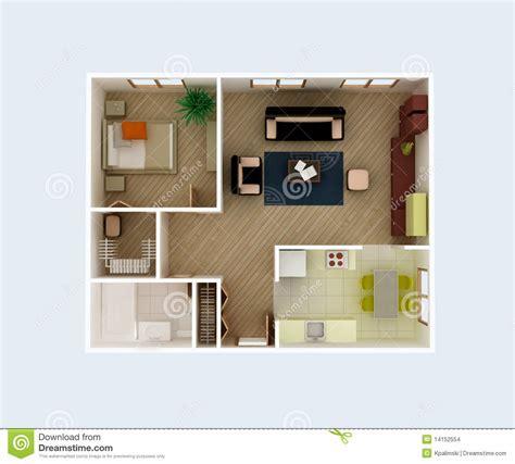 Apartment floor plan stock illustration. Image of