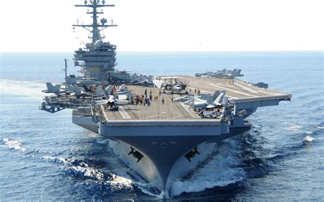 Download Uss George Hw Bush Aircraft Carrier Wallpaper For