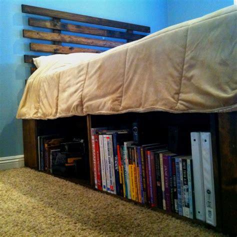 diy bed frame  headboard  fruit crates