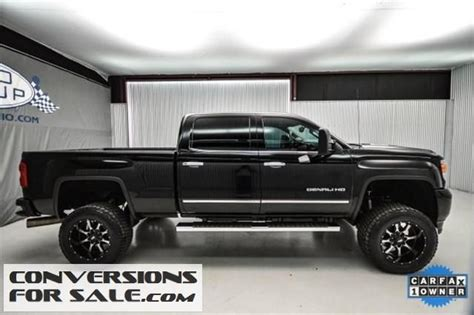 gmc sierra hd denali diesel lifted truck