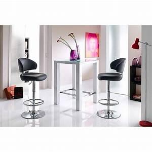 Table De Bar Blanche : tables design au meilleur prix table de bar design janis 80cm blanche inside75 ~ Voncanada.com Idées de Décoration