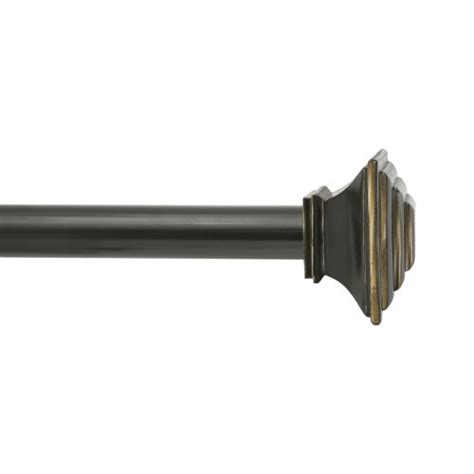 kenney mission double window curtain rod oil rubbed window
