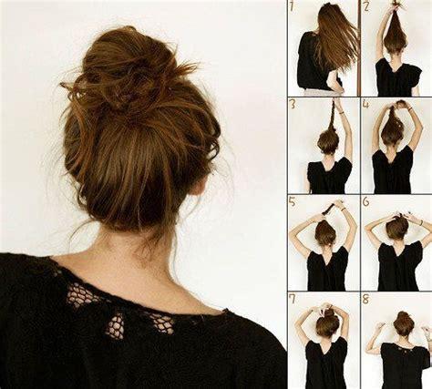 tutoriel coiffure le chignon facile et rapide tutos coiffure coiffure facile et