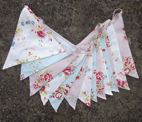 shabby chic bunting paisley and floral party bunting from zigzag
