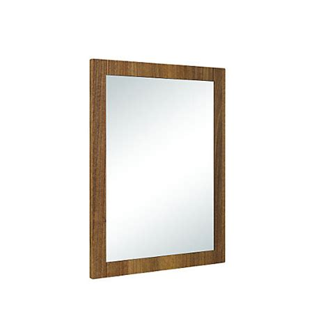 Walnut Bathroom Mirrors by Wickes Frontera Rectangular Walnut Effect Framed Bathroom