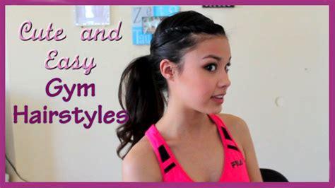 cute easy  fun gym hairstyles youtube