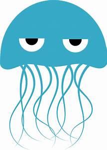 Blue Jellyfish Clip Art at Clker.com - vector clip art ...