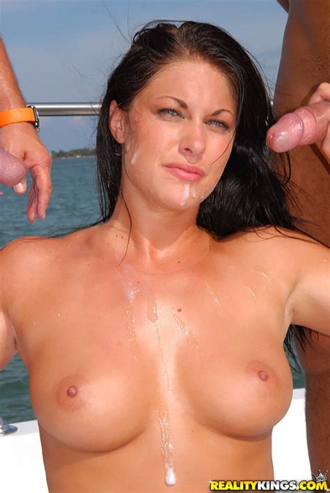 Luscious Dark Haired Milf Gets Mmf Group Sex And Big Cumshot