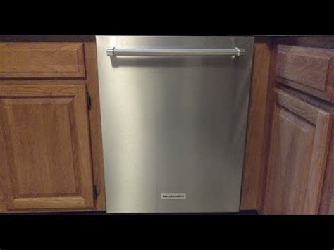 Kitchenaid Dishwasher Model Kdte334gps Youtube