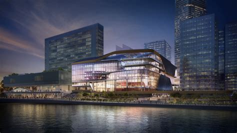 unstudio designs transparent stacked theater  hong kong cultural quarter archdaily
