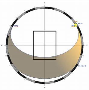 Stereographic Sun Path Diagram
