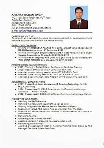 Resume for hotel management fresher