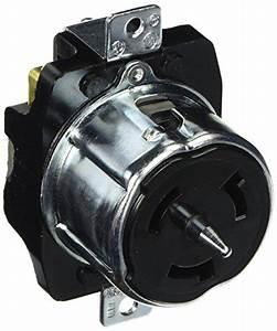 Hubbell Cs8169 Locking Receptacle  50 Amp  480v  3 Pole