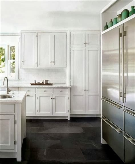 slate floors kitchen the zhush seven inspiring white kitchens 2301