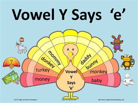 Fun activity to help teach the vowel y making the long e ...
