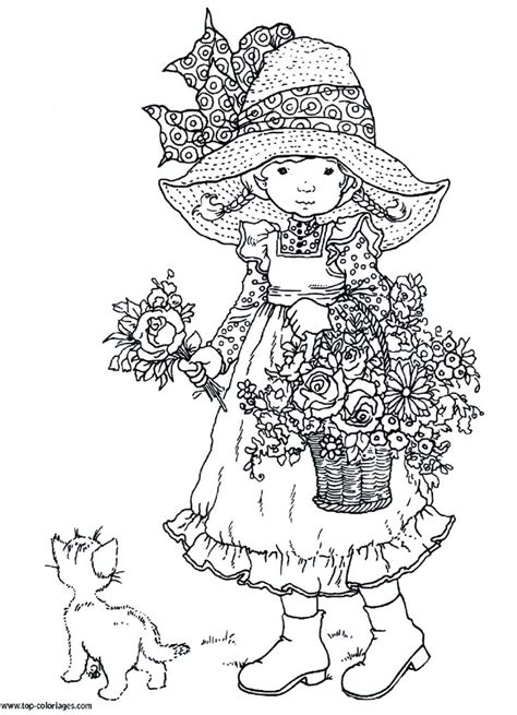 vintage holly hobbie pages coloring pages