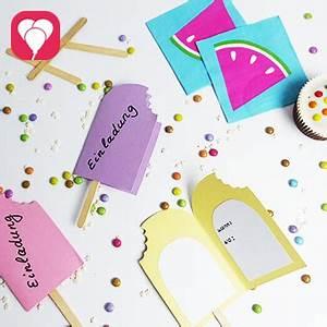 12 Geburtstag Was Machen : sommer sonne eis diy eis einladung basteln balloonasblog ~ Articles-book.com Haus und Dekorationen
