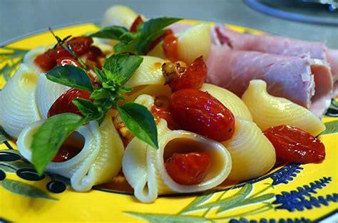 recette de jambon pates tomates cerises et basilic