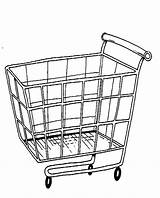 Coloring Cart Pages Shopping Trolley Drawing Grocery Printable Getdrawings Functional Getcolorings Picolour sketch template