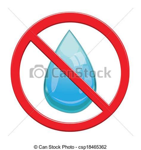 No Water Drop Sign Icon