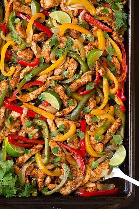 sheet pan fajitas chicken fajita easy baked oven baking cooking vegetables different