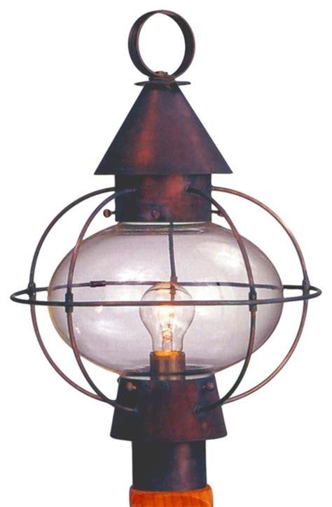 cape cod post mount copper lantern by lanternland
