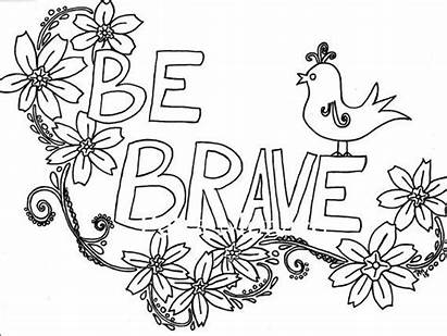 Coloring Positive Affirmations Printable Pages Sheets Brave