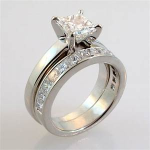 Custom wedding rings bridal sets engagement rings for Wedding ring set