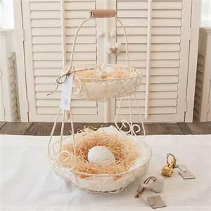Drahtkorb Tisch Weiß : oster etagere zum selber f llen ich liebe mein zuhause landhausstil zum wohlf hlen und geniessen ~ Yasmunasinghe.com Haus und Dekorationen