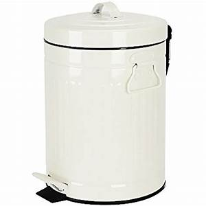 Bathroom, Trash, Can, With, Lid, Small, White, For, Bedroom, Retro, Step, Soft, Close, 5