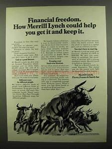 1974 Merrill Lynch Lynch Ad - Financial Freedom