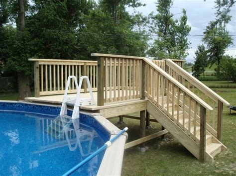 marvelous  ground pool deck ladder steps  swim
