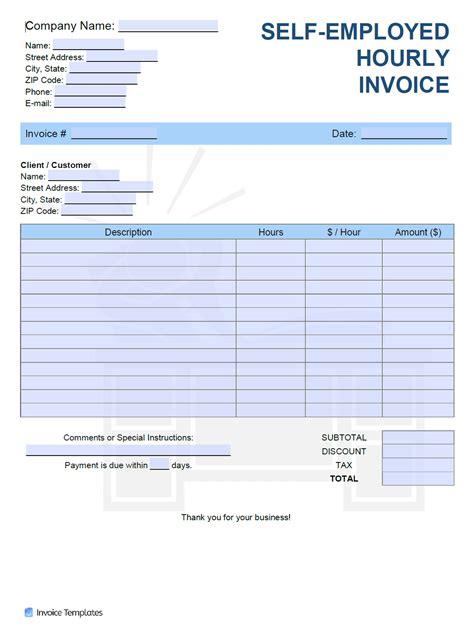 employed freelancer hourly hr invoice